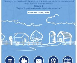 Bando sottomisura 3.2 – Sostegno per attività di informazione e promozione